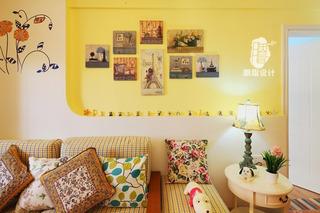 地中海风格小清新90平米二手房家装图
