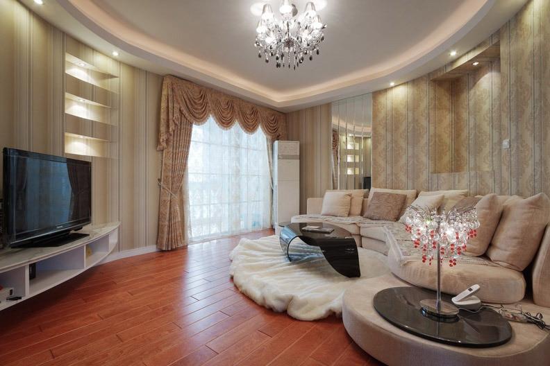 欧式风格奢华130平米客厅婚房家居图片