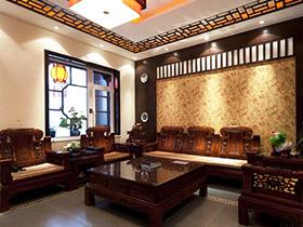 中式客廳奢華之選 19款瓷磚效果圖