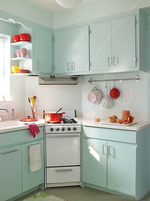 家居图册 打造小清新厨房 18张彩色橱柜设计图 小清新,厨房  上一张下