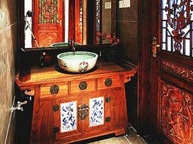 15款中式卫浴柜图 给卫生间添大气感