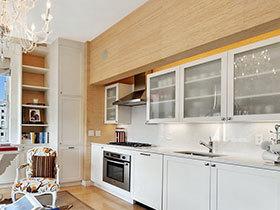 打造开放式厨房 16张一字型橱柜设计