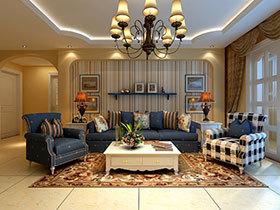 壁纸的妙用 14张简洁沙发背景墙设计图