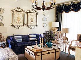 唯美客厅设计图 18款地中海沙发背景墙