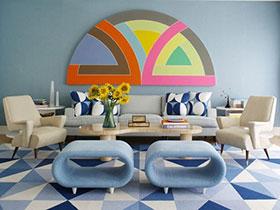 唯美沙发背景墙图片 15款清新客厅欣赏