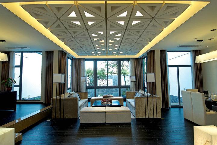 新中式风格别墅奢华客厅效果图