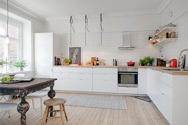 简洁白色厨房设计图纸