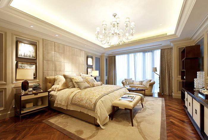 欧式风格实用床头软包装潢