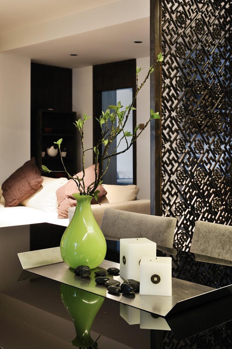10-15万100平米中式三居室装修效果图,海上国际花苑图片