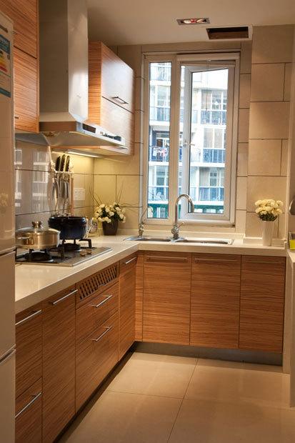 经典l型橱柜设计 16张简约厨房效果图