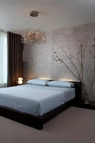 简约风格舒适卧室吊顶吊顶效果图