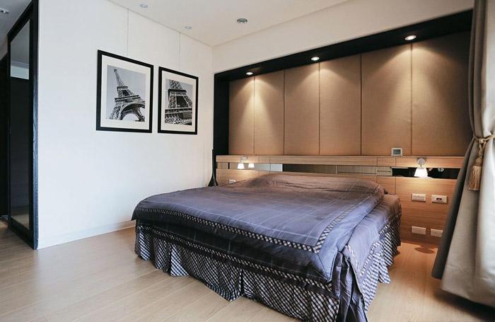 舒适卧室背景墙装修效果图