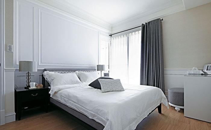欧式风格实用卧室背景墙装修效果图