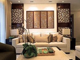 古典中式风 18张沙发背景墙效果图