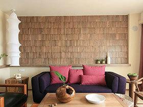 15张彩色沙发背景墙图片 打造清新客厅