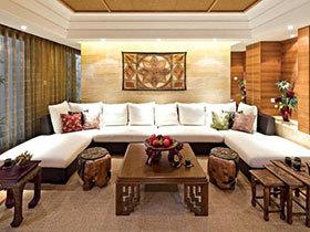 16张中式客厅沙发背景墙图片 大气稳重