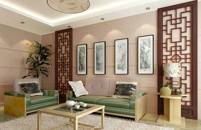 中式风格古典粉色效果图
