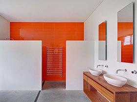 清新卫生间设计 17张彩色洗手台图片
