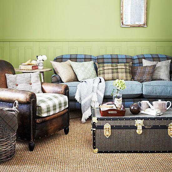格子客厅沙发沙发图片