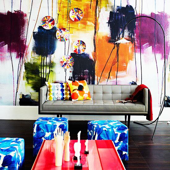 时尚客厅壁纸效果图