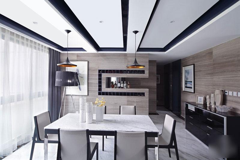 现代简约风格三居室温馨20万以上餐桌效果图
