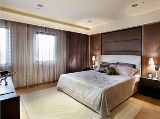 现代简约风格三居室时尚5-10万卧室装潢