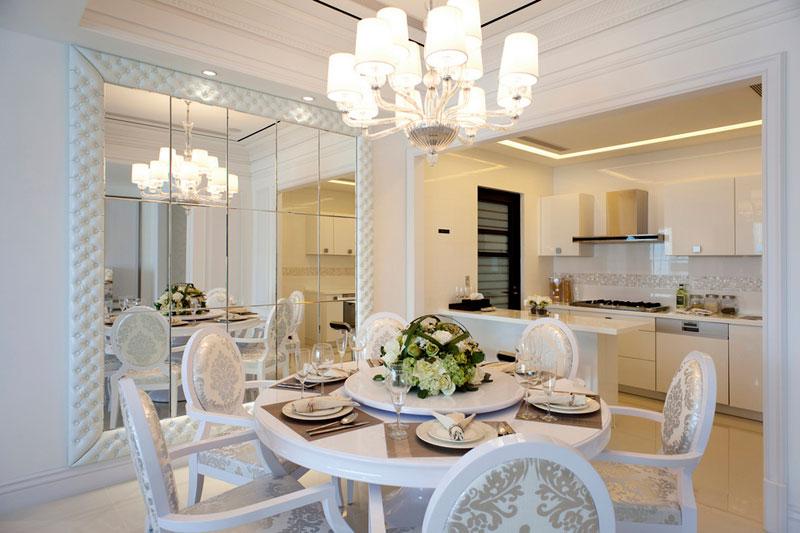现代简约风格一居室小清新餐厅设计