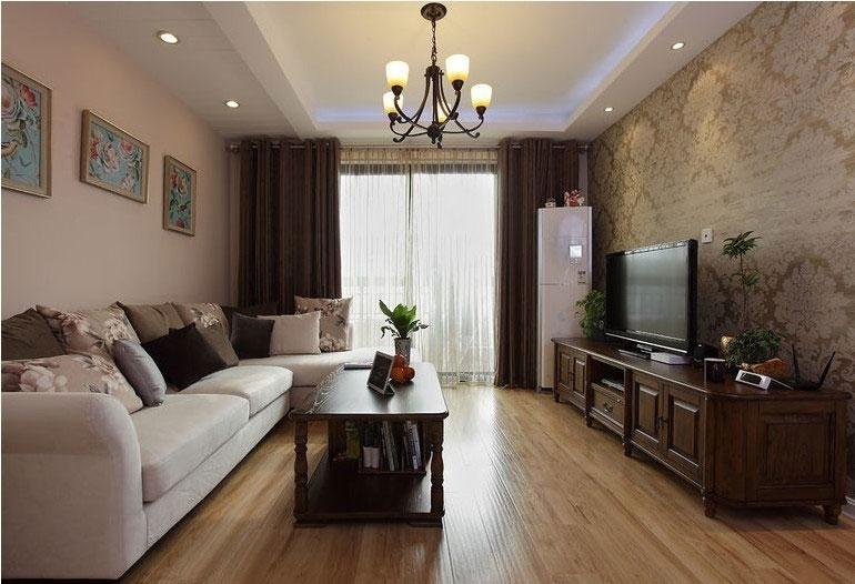 简约风格跃层舒适100平米客厅设计