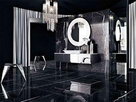 17款黑色瓷砖图片 造大气卫生间