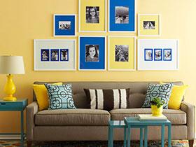 17张沙发背景墙图片 看不一样的照片墙
