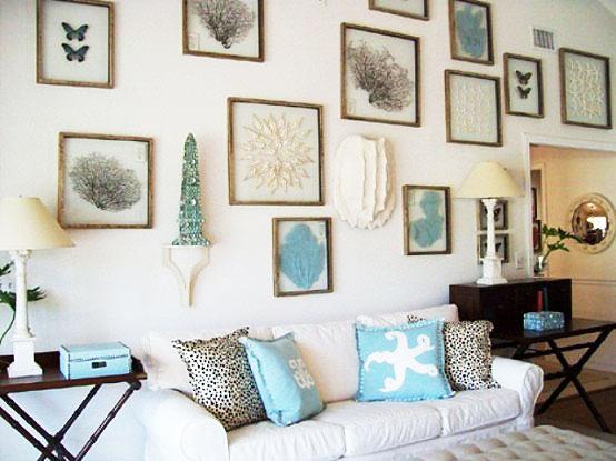 地中海风格简洁照片墙效果图