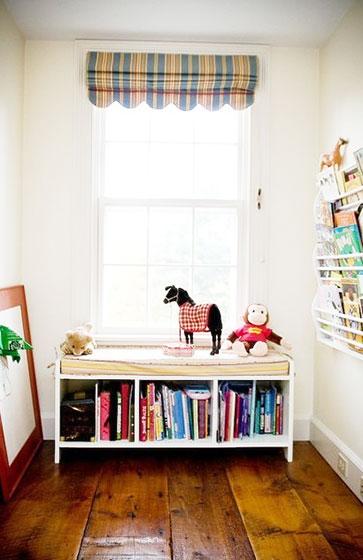 格子卧室窗帘窗帘效果图