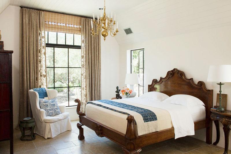 咖啡色卧室窗帘窗帘效果图