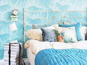 卧室吹起热带风 14款度假感壁纸图