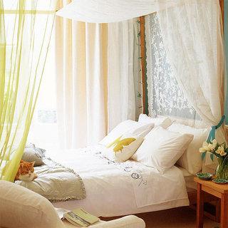 田园风格粉色卧室窗帘窗帘效果图