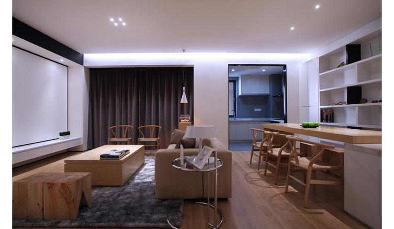 现代简约98平两房两厅装修效果图,室内设计效果图 齐家装修网高清图片
