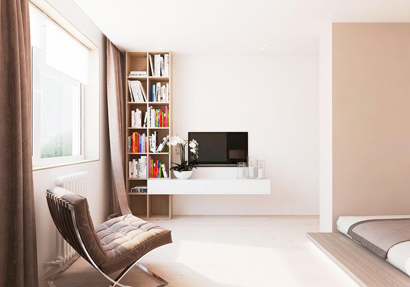 现代简约风格简洁电视背景墙效果图