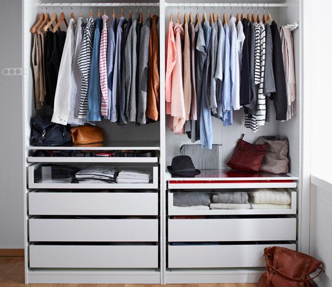 宜家风格简洁白色衣柜图片