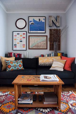 宜家风格艺术客厅装潢