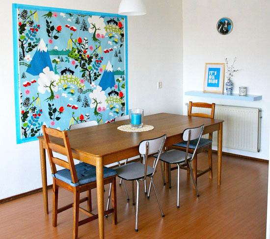 小清新蓝色餐厅设计图