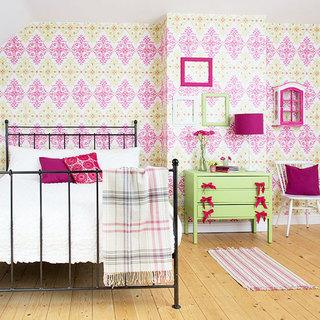 小清新卧室壁纸效果图