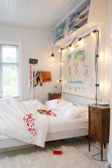 简约风格简洁卧室背景墙效果图