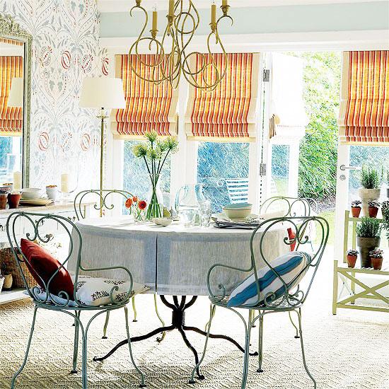 简欧风格白色餐厅壁纸效果图