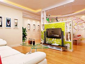 一体两用电视墙 19张客厅隔断效果图