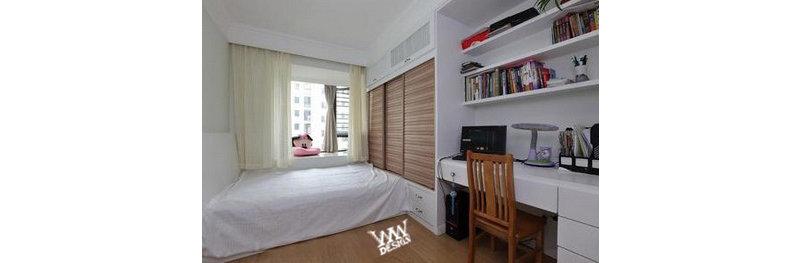 装修设计 上海装修 上海装修案例 2居婚房 客厅巧隔餐厅 次卧榻榻米