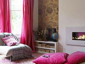 温馨卧室方案 19款布艺窗帘图