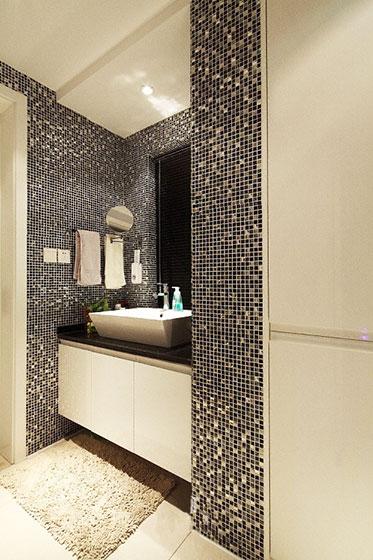 黑色卫浴间瓷砖瓷砖效果图
