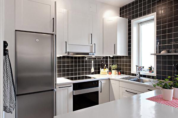 现代简约风格一居室舒适40平米厨房装潢