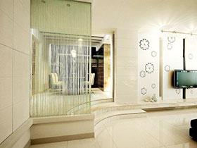 11張客廳軟隔斷設計圖 唯美古典氣質