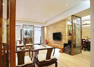 中式风格红色客厅装潢